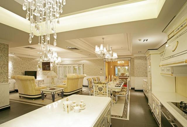 嘉兴鸿志装饰:欧式风格餐厅装修效果